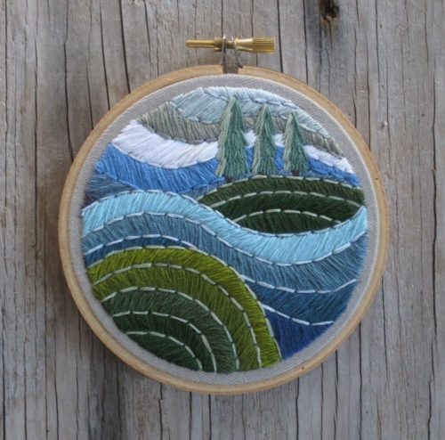The Wind and The Waves Embroidery