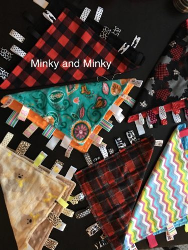 Crinkly or Regular Taggy Blankets (aka loveys)
