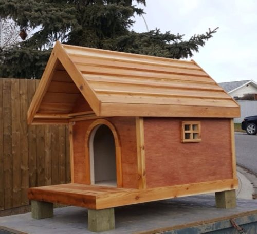 Fully Insulated Cedar Dog Houses