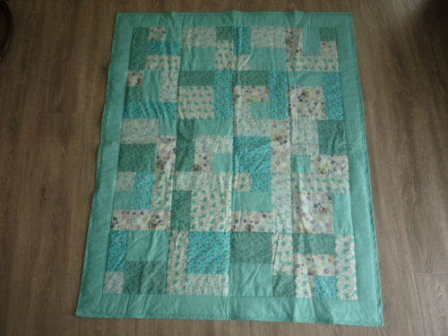 New Hand Quilted Patchwork Baby Quilt