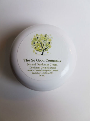 The So Good Company Natural Deodorant Cream