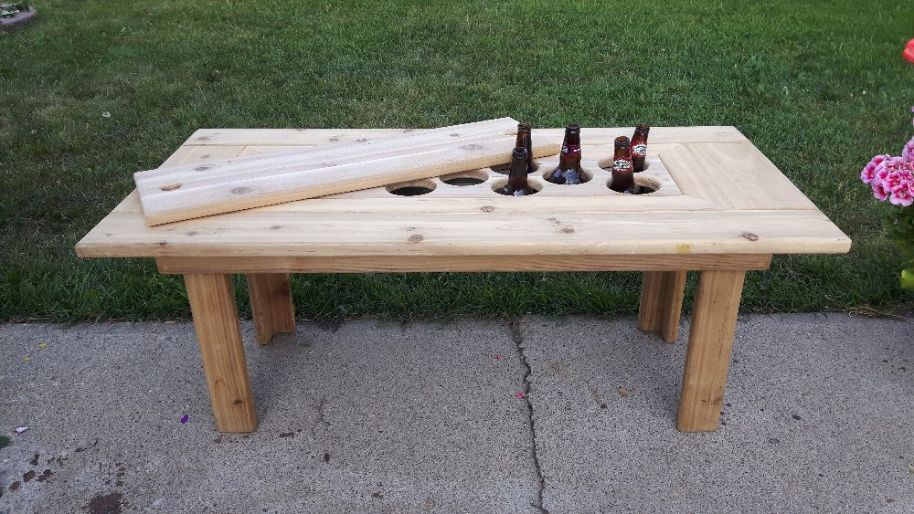 Beverage cooler tables 100 mile living for 100 mile table