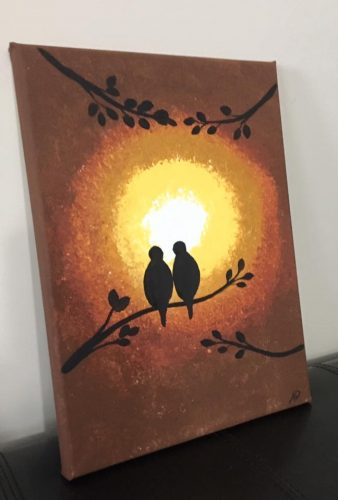 Sunset Love Birds