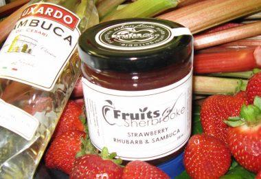 Strawberry Rhubarb with Sambuca