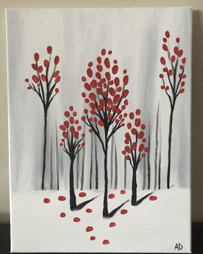 First Snowfall – Canvas Painting