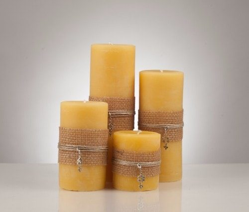 3″ Solid Beeswax Pillar Candle