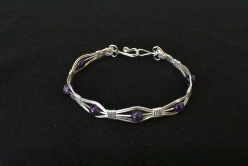 Beautiful Wire Work & Semi-Precious Gemstone Bracelets