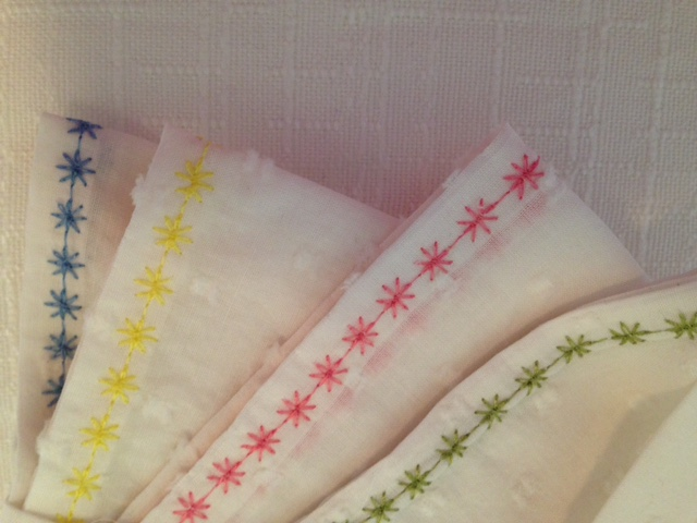 Cream & textured handkerchiefs - 4 set 2