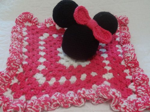 Minnie Mouse Lovey Blankie Plush Toy 100 Mile Living
