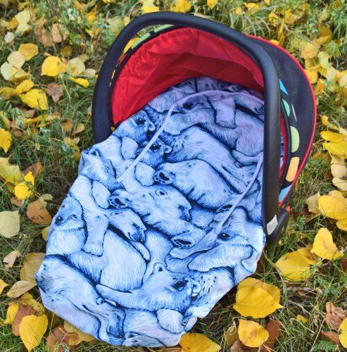 Peek-a-Boo Infant Car Seat Cover – Polar Bear Print