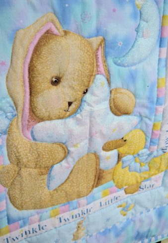 Twinkle Twinkle Little Star Nursery Crib Quilt - Image 2