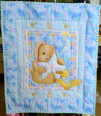 Twinkle Twinkle Little Star Nursery Crib Quilt - Image 1