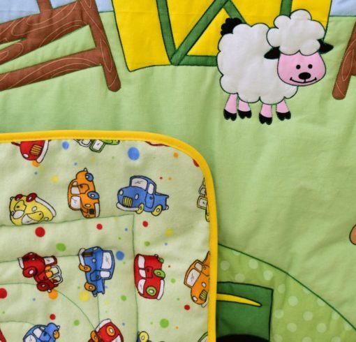 John Deere Tractor Crib Quilt Blanket - Image 3