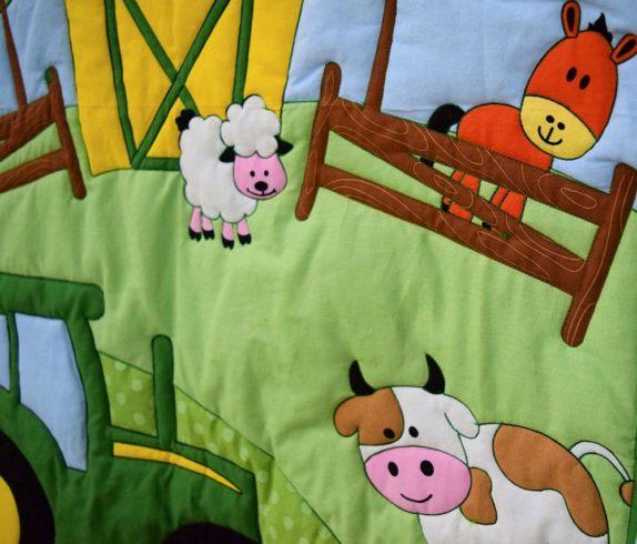 John Deere Tractor Crib Quilt Blanket - Image 2