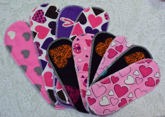 Reusable Washable Cotton Menstrual Sanitary Pads - Image 2