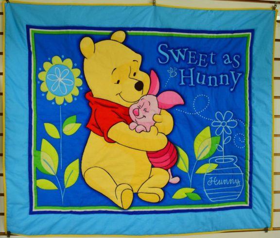Winnie the Pooh Baby Crib Quilt - Image 1