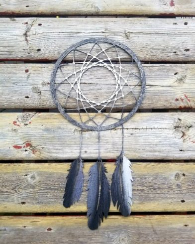 Dream Catcher Wall Hanging Boho Decor Feather Metal Wall Art - Image 2