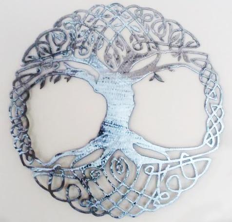 Celtic Tree Of Life Metal Wall Art Living Room Decor Recycled Metal Celtic Art Celtic Knot Metal Wall Hanging Active - Image 5