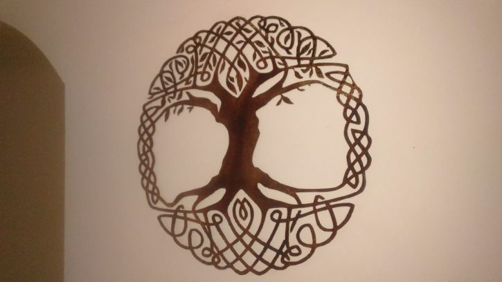 Celtic Tree Of Life Metal Wall Art Living Room Decor Recycled Metal Celtic Art Celtic Knot Metal Wall Hanging Active - Image 3