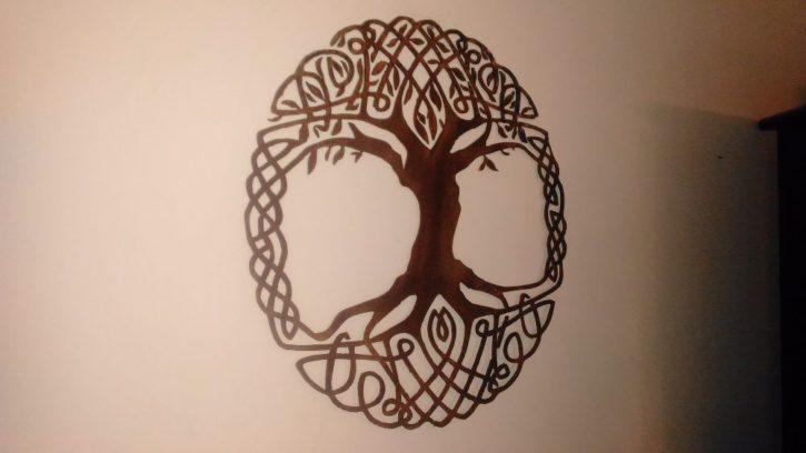 Celtic Tree Of Life Metal Wall Art Living Room Decor Recycled Metal Celtic Art Celtic Knot Metal Wall Hanging Active - Image 4