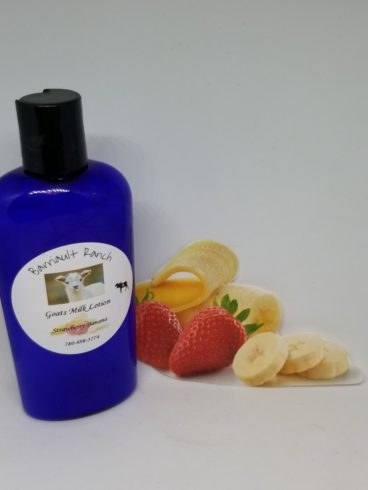 Strawberry banana goats milk lotion