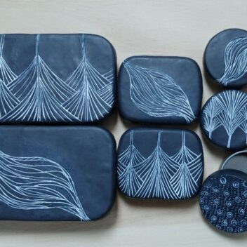 Tin boxes with polymer clay