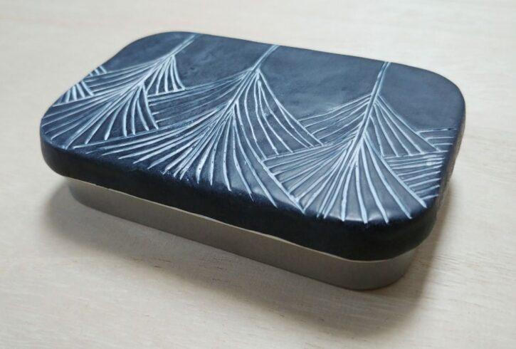 Large rectangular tin box