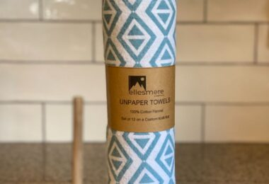 Teal Geometric Unpaper Towels