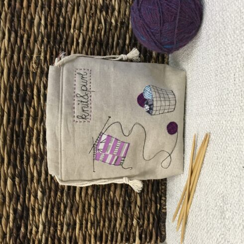 Knitting Project Bag - Image 1
