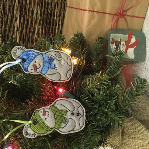 Snowman Ornament/Set of Two - Image 4