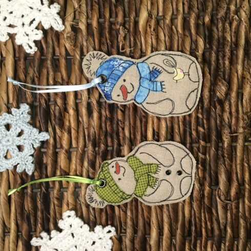 Snowman Ornament/Set of Two - Image 1