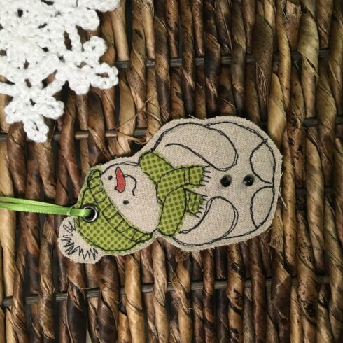 Snowman Ornament/Set of Two - Image 2