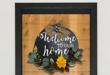 16in cirlce welcome sign