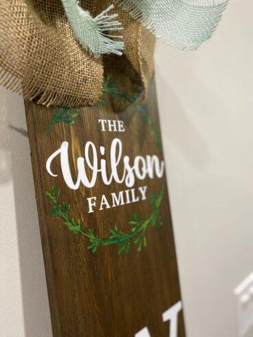 Family Wood Sign Custom