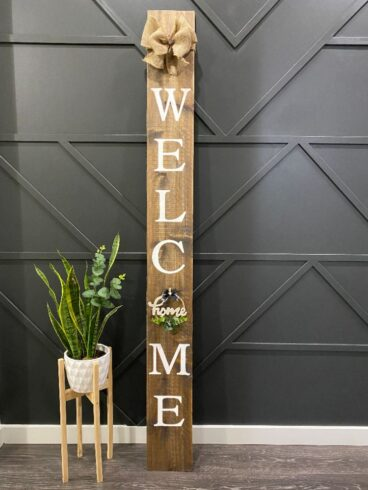 WELCOME SIGN 7.5 X 72