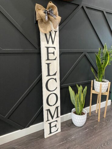 WHITE BOARD WELCOME SIGN