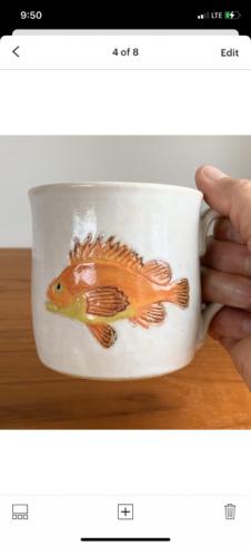 Rockfish pottery mug