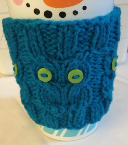 reusable knitted cozy